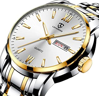 Watch, Men's Watches Classic Luxury Stainless Steel Waterproof Date Analog Quartz Dress Wrist Watch for Men