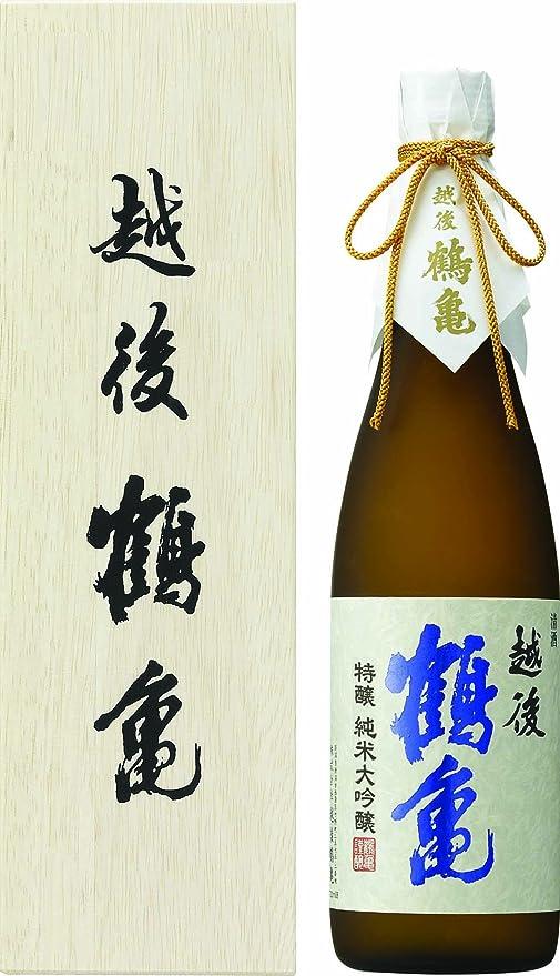 のど拒否薄暗い越後鶴亀 特醸 純米大吟醸 720ml(桐箱)
