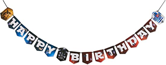 American Greetings Star Wars Birthday Party Banner, Hinged Banner, 1-Count