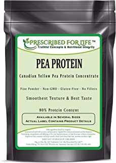 Pea Protein - Natural Non-GMO Canadian Yellow Pea Protein Concentrate Powder - 80% Protein, 5 kg