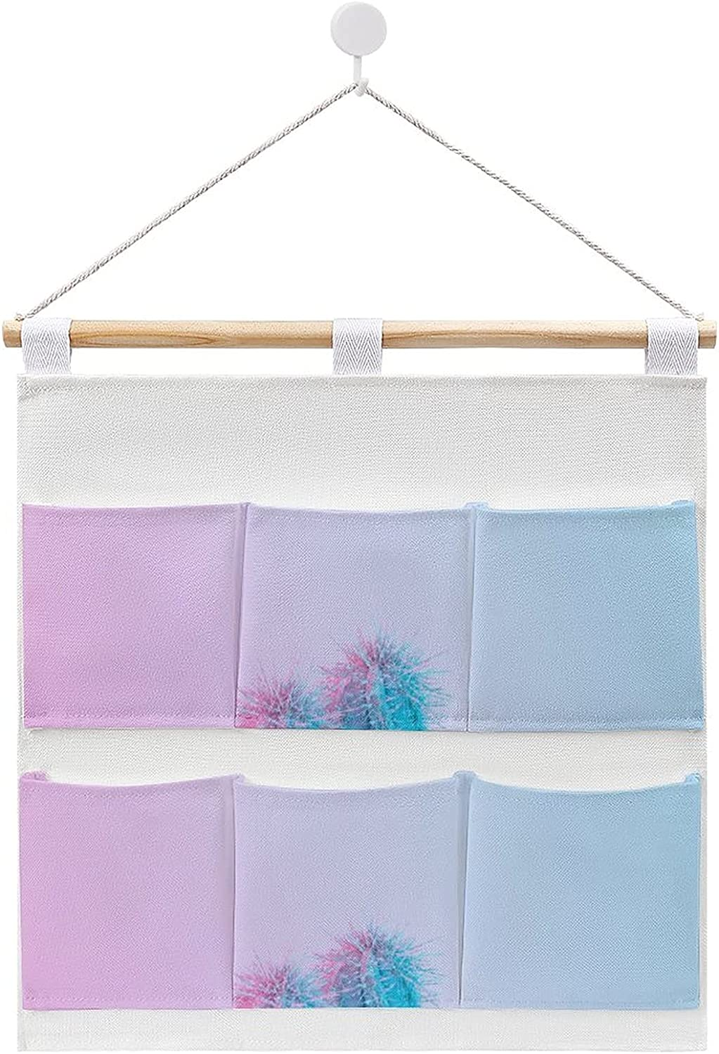 Cactus in Vibrant Purple Hanging cotton st Direct sale of manufacturer linen Long-awaited and bag storage