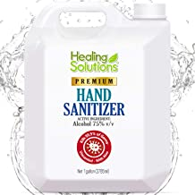 Hand Sanitizer Gel (1 Gallon - 128oz) - 75% Alcohol - Kills 99.99% of Germs - Unscented Bulk Hand Sanitizer Refill with An...