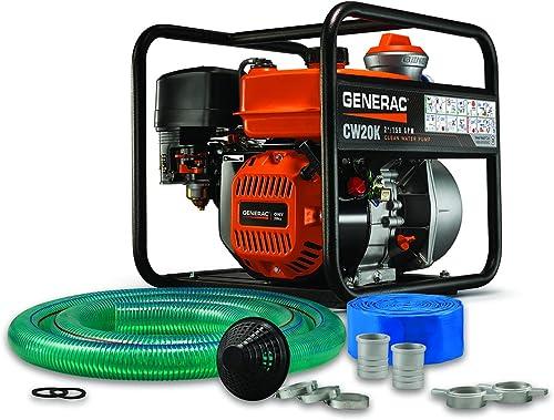 discount Generac high quality G0077320 7732, 2 inch, Hose Kit Water Pump, Orange, online sale Black outlet sale