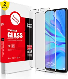 SMARTDEVIL 2 Pack Screen Protector Foils for Huawei P30 lite Protective Tempered Glass Film for 6.15 Inch Screen with Inst...