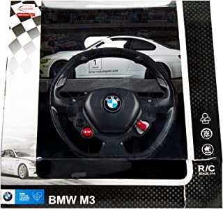 BMW M3 Remote Controlled Car With Steering Wheel 1:14 Scale Electric R/C - White