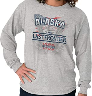 Alaska Last Frontier America AL USA Gift Crewneck Sweatshirt