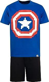 MARVEL Mens Captain America Pyjamas
