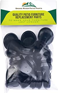 "Patio Furniture Leg Protectors - Replacement Patio Furniture Feet Sliders - DELUXE - Pack of 24 - For 1.5"" Wrought Patio Furniture Feet by Snake River Patio Parts"