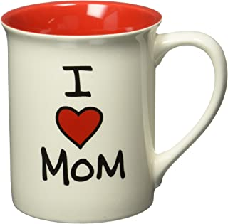 "Our Name is Mud ""I Heart Mom"" Stoneware Mug, 16 oz."