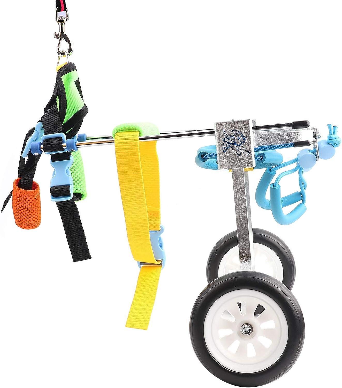 Oumefar 2 Wheels Mail order Adjustable Ranking TOP5 Dog Hind Wheelchair Exer Leg Pet