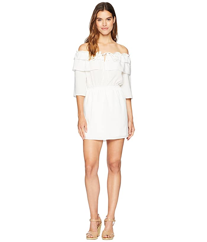 Jack by BB Dakota Bowser Off the Shoulder Dress (White) Women