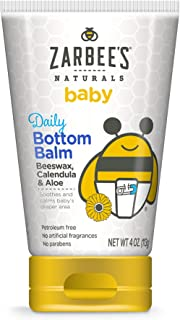 Zarbee's Naturals Baby Daily Bottom Balm, 4 Ounces, with Beeswax, Calendula & Aloe