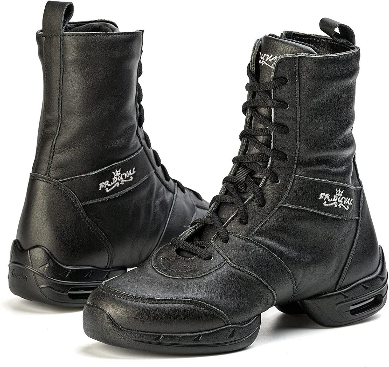 FR DUVAL Superior Leather Dance Shoes Men Women Professional Sal