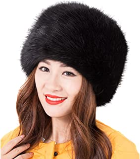 5a6d2210ada9f LITHER Women Ladies Girls Cossack Russian Style Faux Fur Hat Winter Warm Cap