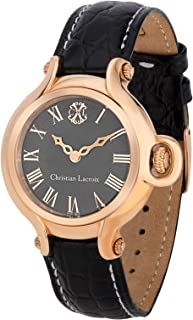 Christian Lacroix Women'S Black Dial Leather Band Watch - C Clw8006805Sm,