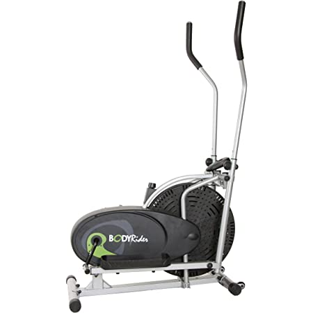 Body Rider Body Flex Sports Elliptical Exercise Machine, at-Home Exercise Equipment Black/Green/Silver ,One Size