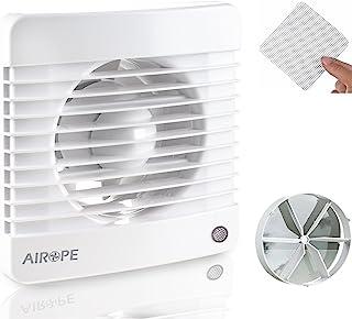 Airope,100 mm Humidity Sensor & Timer,Ventilateur,Extracteur d'Air avec Clapet Anti-Retour + Moustiquaire Intégré,7 W,dB(...