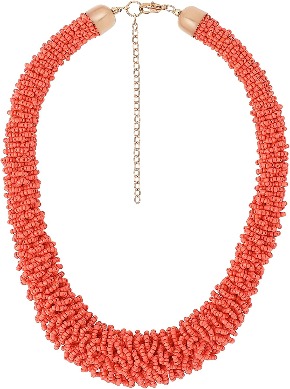 RF Rizir Fashion Long Handmade Boho Necklaces for Women - Statement Necklace - Seed Bead Necklaces for Girls and Women