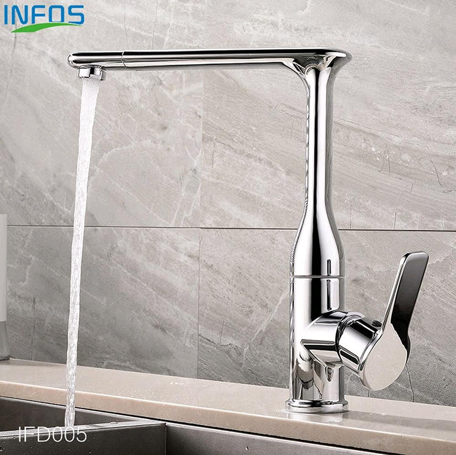 BingHaiY Brass redary Widespread Sink Kitchen Faucet Deck Mounted Hot And Cold Water Mixer Tap Pb-free grifo osmosis