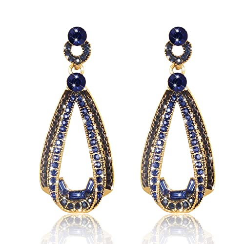 5b425a76c17c4f LOVE&CLOVER New Vintage Drop Dangle Earrings with Crystal for Party Women  Gifts