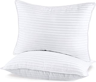 Utopia Bedding (2 Pack) Premium Plush Pillow - Fiber Filled Bed Pillows - Queen Size 20 x 28 Inches - Cotton Pillows for Sleeping - Fluffy and Soft Pillows