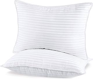 Utopia Bedding (2 Pack) Premium Plush Pillow - Fiber Filled Bed Pillows - Queen Size 20 x 28 Inches - Cotton Blend Pillows...