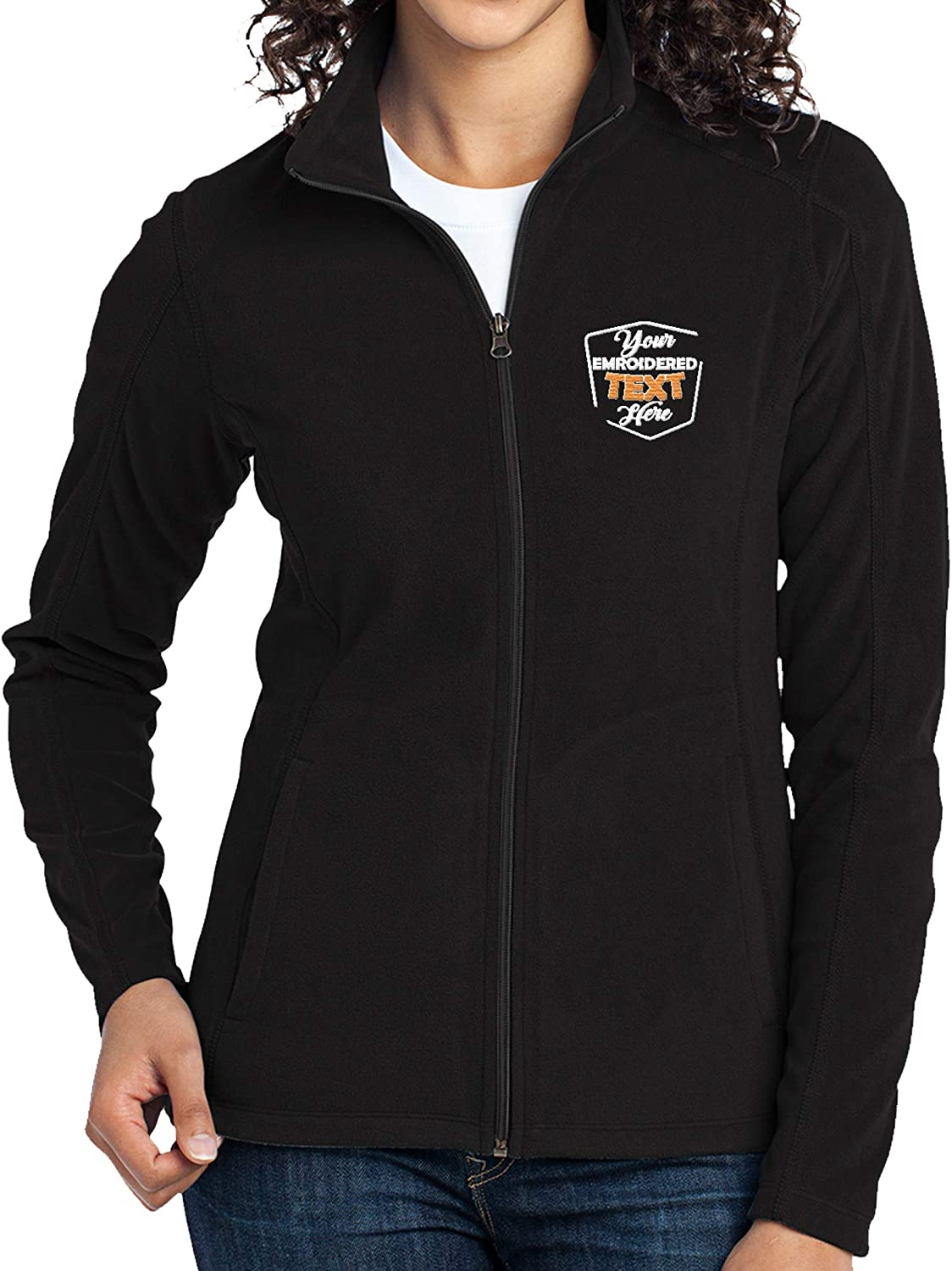 Women Personalized Embroidered Fleece Wholesale Jacket Custom Ladies Z Selling rankings for