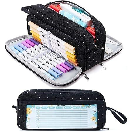 KALIDI M/äppchen Federm/äppchen M/ädchen Teenager Stiftetasche Stiftemappe mit YKK Rei/ßverschluss Unisex Federtasche Pencil Case Schulm/äppchen