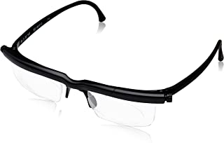 Adlens Adjustable Variable Focus Eyeglasses (Black) Unisex Best Computer Reading Driving Glasses Emergency Replacement for Prescription Lenses -6 to +3 Diopter Eyewear by Nature Berg