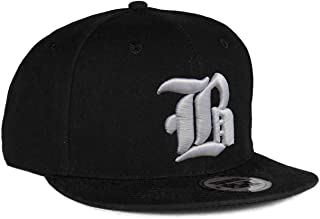 4sold Snapback Hat with Raised 3D Embroidery Letter Baseball Cap Hip-Hop Cap Hat Headwear (One Size, B)