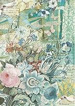 Stamperia Papel de Arroz Pasiflora, Multicolor, 21 x 29.7 cm