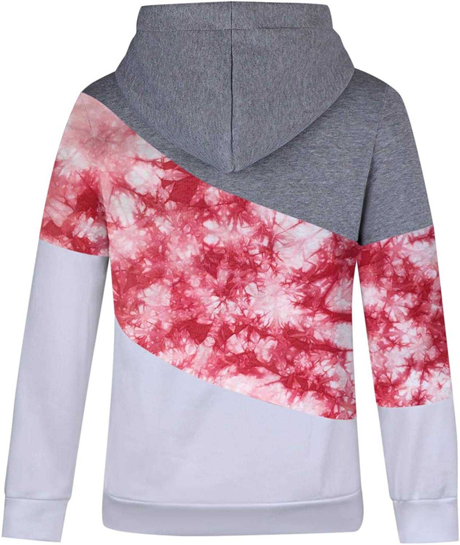 Kobay Hoodie Damen Herbst Winter Kapuzenpullover Sweatshirt Pullover Sweatshirt Langarm Winterjacke Mantel Top Rot