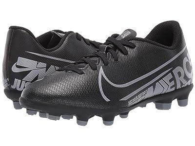 Nike Kids Jr Vapor 13 Club FG/MG Soccer (Toddler/Little Kid/Big Kid) (Black/Metallic Cool Grey/Cool Grey) Kids Shoes