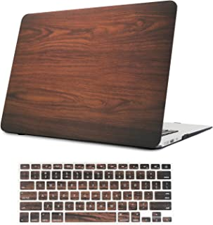 iCasso 2 in 1 MacBook Air 13 Inch Case Durable Rubber Coated Plastic Cover for MacBook Air 13 Inch Model A1369/A1466 with Keyboard Cover (Brown)