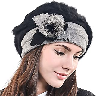 F&N STORY Lady French Beret Wool Beret Chic Beanie Winter Hat Jf-br022