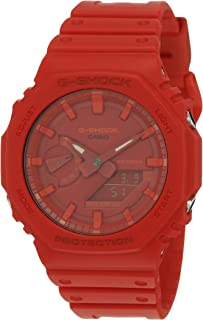 Casio G-Shock GA-2100-4ADR Analog Quartz Red Resin Men's Watch