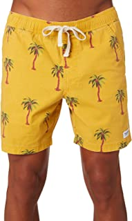 Banks Men's Palm Dreams Mens Elastic Boardshort Cotton Mesh Elastane Yellow
