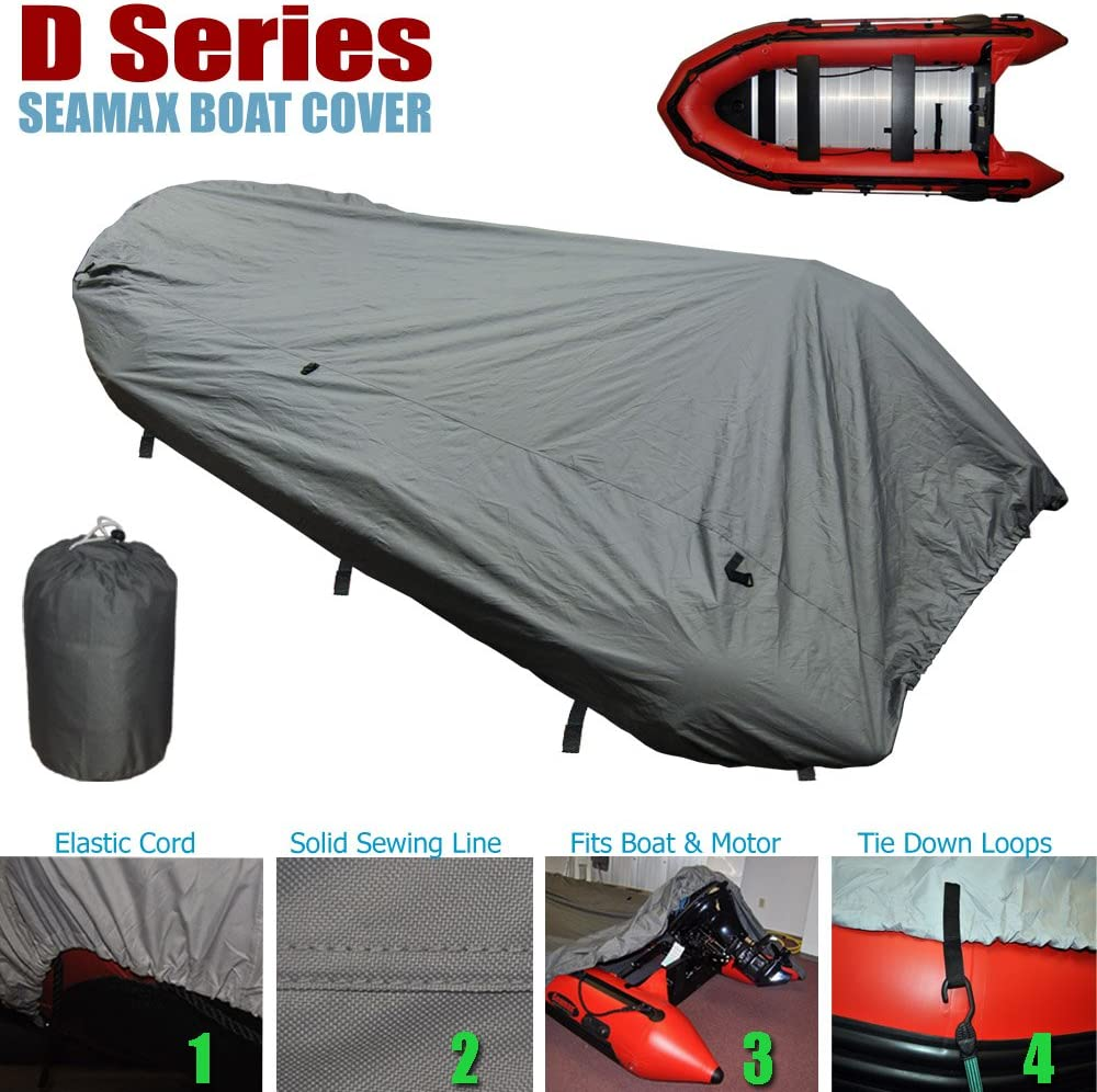 Seamax Inflatable Boat Cover, D Series for Beam Range 5.8' to 6.