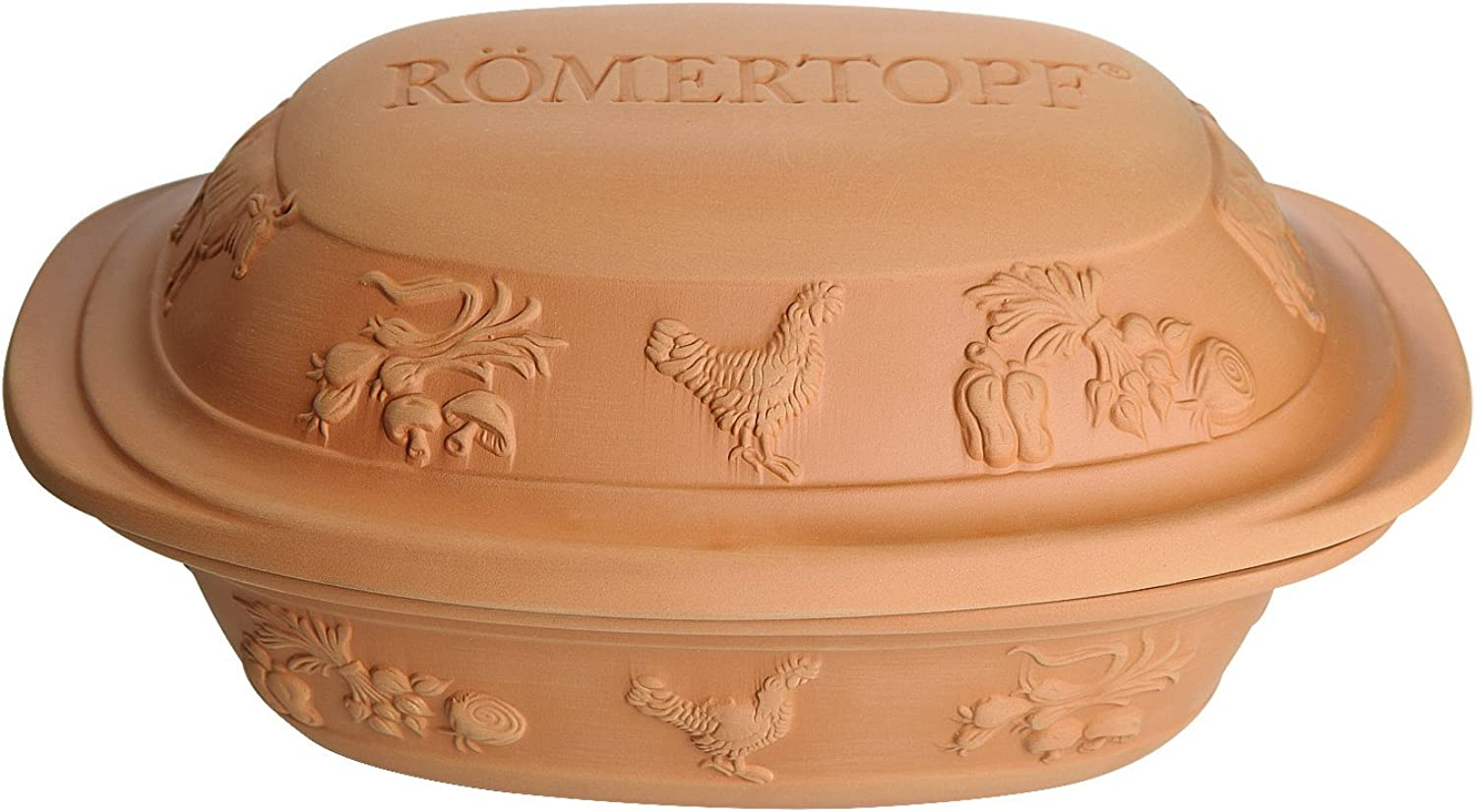 Romertopf by Reston Lloyd Rustico Series Natural Glazed Clay Cooker, Large, 4.2 Quart