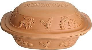 Romertopf by Reston Lloyd Rustico Series Natural Glazed Clay Cooker, Medium, 3.1 Quart