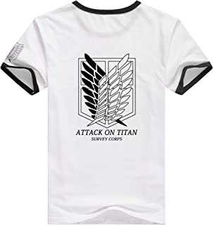 Anime Attack on Titan Shingeki No Kyojin Survey Corps Eren Cosplay Adult T-Shirt