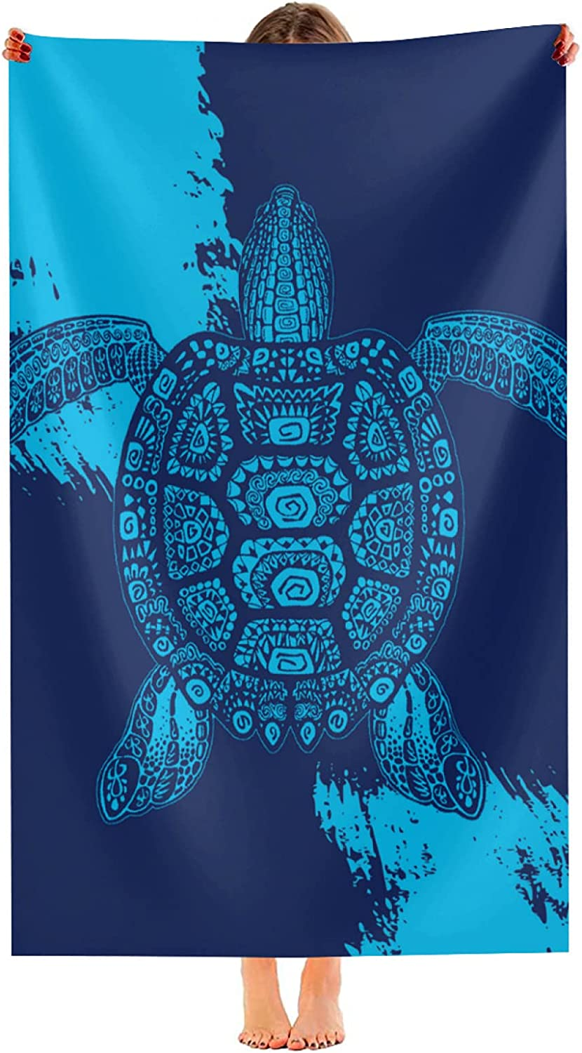10. Ultra Soft Sea Turtle Beach Towels for Adults