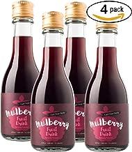 Young Scent Fruit Vinegar Drink 100% Juice No Preservative 52 Calories 6 oz fl   Bonus 12 Delicious Mocktail Recipes (Mulberry, 4 Pack)