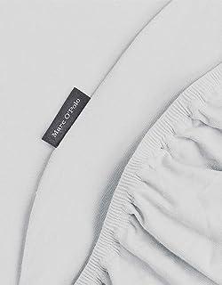 Marc O'Polo Jersey Draps Housses, 97% Coton(160 GR/m²) 3% elasthane, Silver, 180 cm x 200 cm