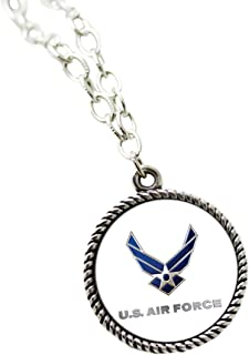 United States Military Sublimated Pendant Necklace and Chain