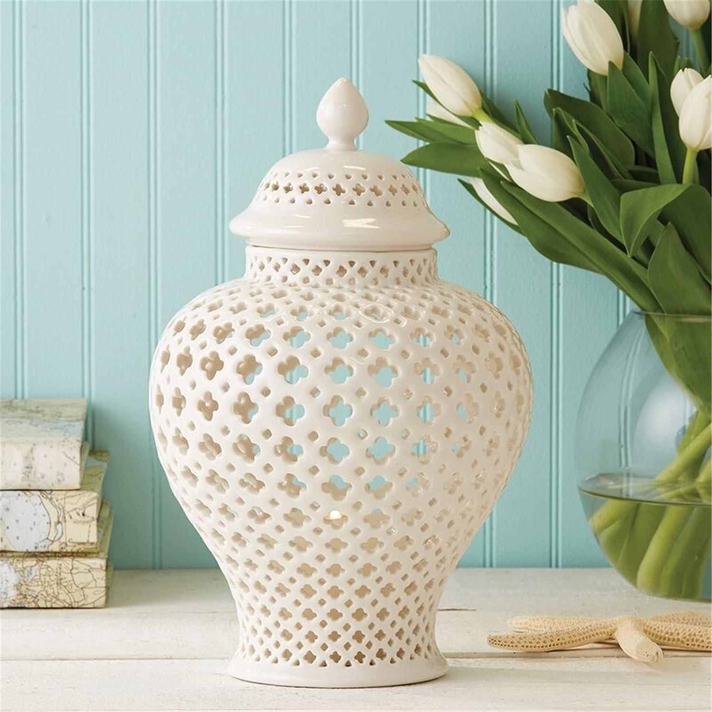 KORANGE Limited price White Jar Ginger Jars Decor Home Decorati Price reduction for