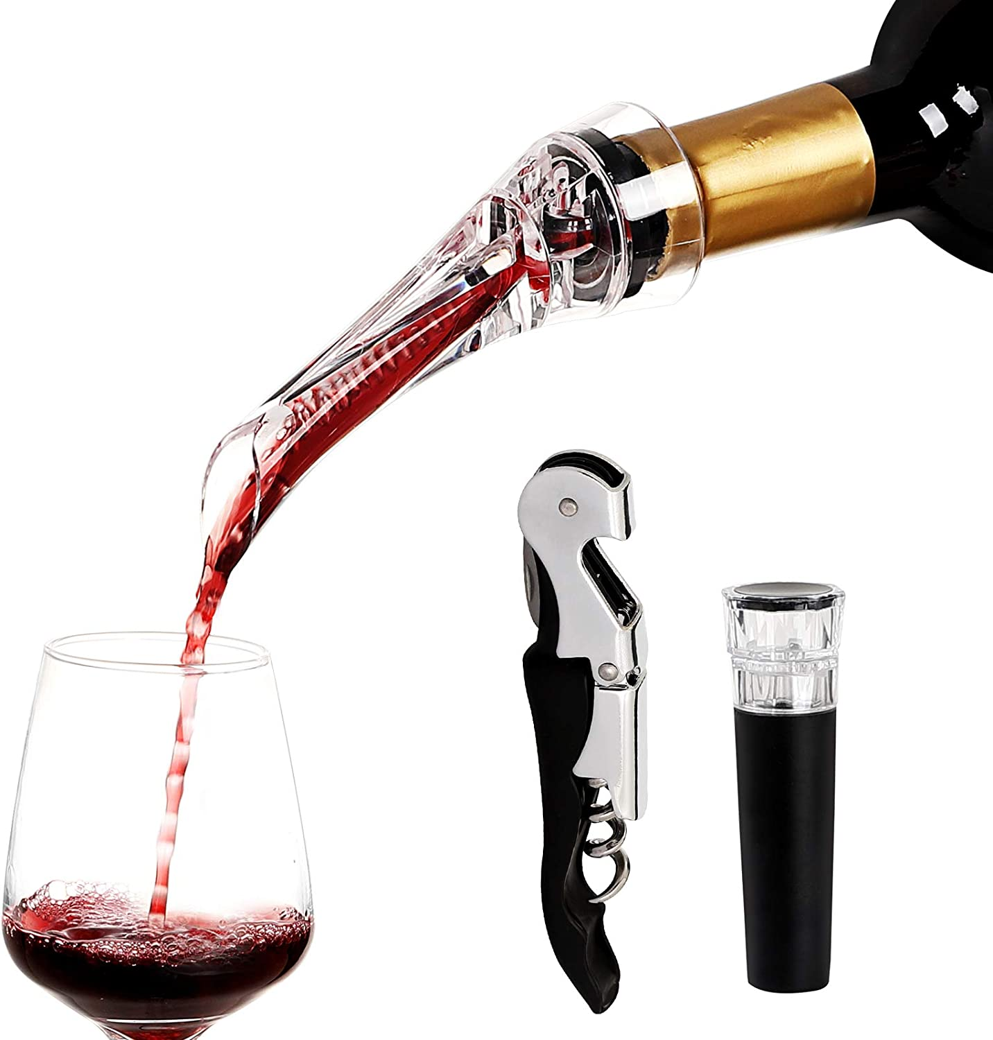 Red Wine Aerator Pourer Stoppers Opener safety Max 73% OFF Decanter Bottle Gi