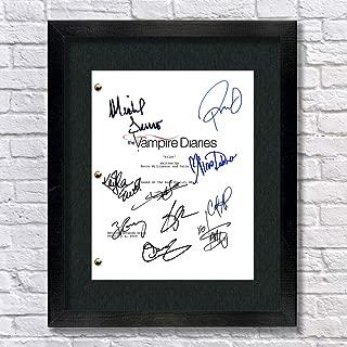 Vampire Diaries Autographed Signed Reprint 8.5x11 Script 13x15 Framed Paul Wesley, Ian Somerhalder, Zach Roerig, Nina Dobrev