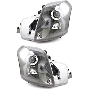 JP Auto Headlight Compatible With Cadillac Cts 2003 2004 2005 2006 2007 Driver Left And Passenger Right Side Pair Set Headlamp