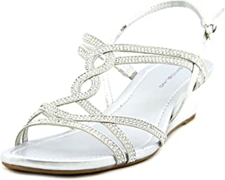 Bandolino Womens Gilnora Open Toe Casual Platform Sandals, SIL/SIL, Size 5.0 Jfw